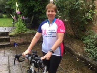 Sue Sykes, in training for the charity bike ride
