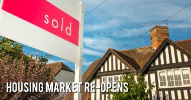Housing market re-opens - call our mortgage brokers for advice on 01727 845500